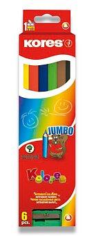 Obrázek produktu Pastelky Kores Kolores Jumbo - 6 barev