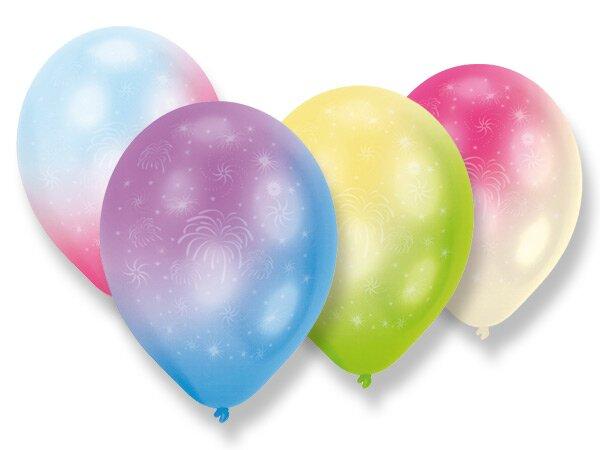 Nafukovací LED balónky - duhové 4 ks