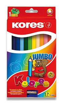 Obrázek produktu Pastelky Kores Kolores Jumbo - 12 barev