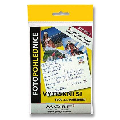 Obrázok produktu More Fotopohľadnice - fotografický papier - 10 x 15 cm, 250 g, 5 pohľadníc