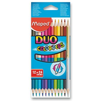 Obrázek produktu Oboustranné pastelky Maped - 12 ks, 24 barev