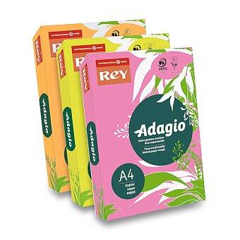 Obrázek produktu Barevný papír Rey Adagio - fluo, 500 listů, výběr barev