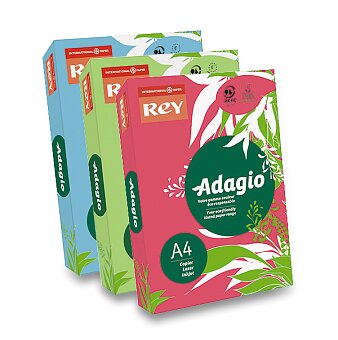 Obrázek produktu Barevný papír Rey Adagio - intenzivní sytost, 500 listů, výběr barev