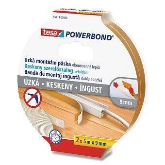 Obrázek produktu Úzká oboustranná montážní páska Tesa Powerbond Slim - 2 ks, šíře 9 mm, návin 5 m