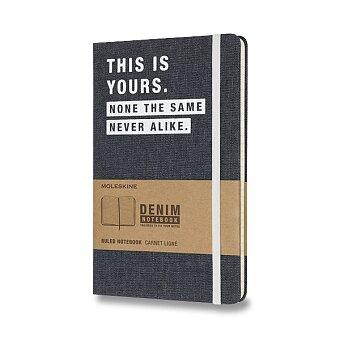 Obrázek produktu Zápisník Moleskine Denim - tvrdé desky - L, linkovaný, This Is Yours
