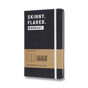 Obrázek produktu Zápisník Moleskine Denim - tvrdé desky - L, linkovaný, Skinny