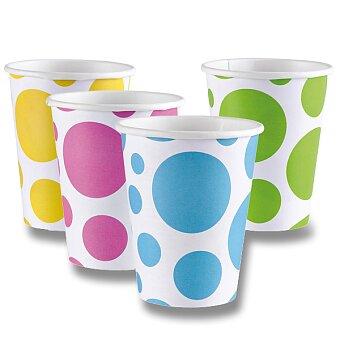 Obrázek produktu Papírové kelímky Solid Color Dots - výběr barev