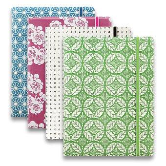 Obrázek produktu Zápisník A5 Filofax Notebook Impressions - zeleno-bílý