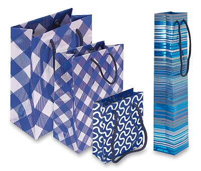 Obrázek produktu Dárková taška Premium Blue - různé rozměry