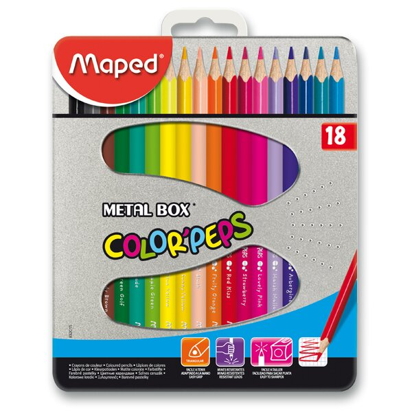 Pastelky Maped Color'Peps Metal Box 18 barev