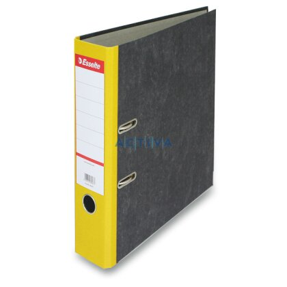 Obrázek produktu Esselte Mramor - pákový pořadač - A4, 75 mm, žlutý
