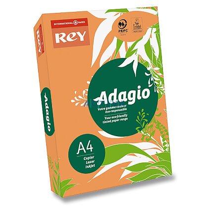 Obrázok produktu Rey Adagio - farebný papier - reflexne oranžový, A4, 500 listov