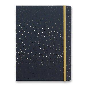 Zápisník Filofax Notebook Confetti A5 Charcoal