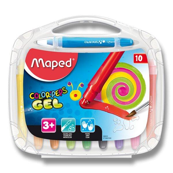 Gelové pastely Maped Color'Peps Gel 10 barev