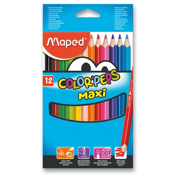 Pastelky Maped Color'Peps Jumbo