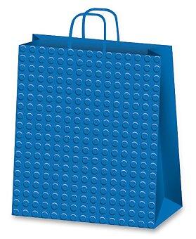 Obrázek produktu Dárková taška Dots - modrá, různé rozměry