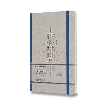 Obrázek produktu Zápisník Moleskine Time - tvrdé desky - L, čistý, modrý