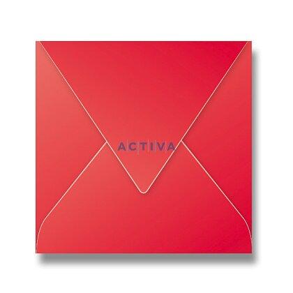 Obrázek produktu Clairefontaine - obálka - 165 × 165 mm, samolepicí, 20 ks, červená