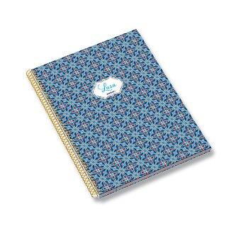 Obrázek produktu Kroužkový blok Ambar Lusa Tile - A4, linkovaný, 120 listů, mix motivů
