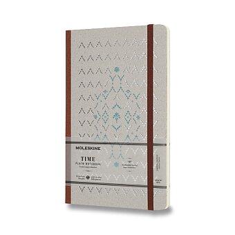 Obrázek produktu Zápisník Moleskine Time - tvrdé desky - L, čistý, hnědý