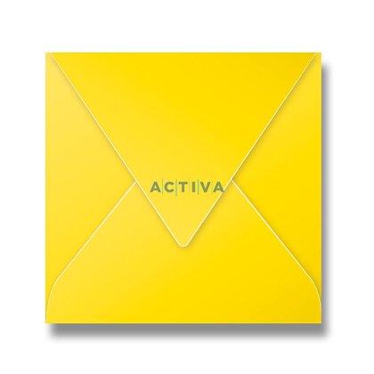 Obrázek produktu Clairefontaine - obálka - 165 × 165 mm, olizová, 20 ks, tmavě žlutá