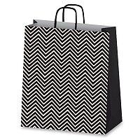 Dárková taška Geometric - černá