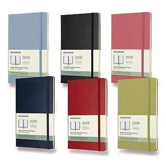 Obrázek produktu Diář Moleskine 2019 - tvrdé desky - L, týdenní, výběr barev