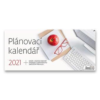 Obrázek produktu Stolní kalendář Plánovací kalendář 2021 - 30,1 x 13,5 cm, pracovní