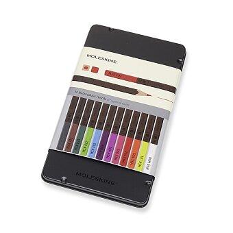 Obrázek produktu Akvarelové pastelky Moleskine - kovový box - 12 barev