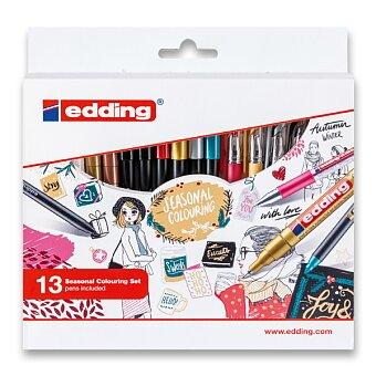 Obrázek produktu Sada dekorativních popisovačů edding Seasonal Colouring - 13 kusů