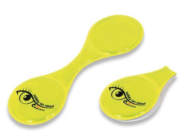 Magnetický reflexní klips žlutý