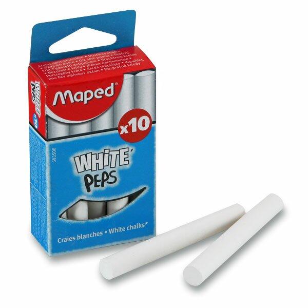 Křídy Maped bílé, 10 ks