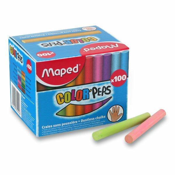 Křídy Maped barevné, 100 kusů