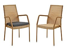 Židle s područkami Cane-Line Newman