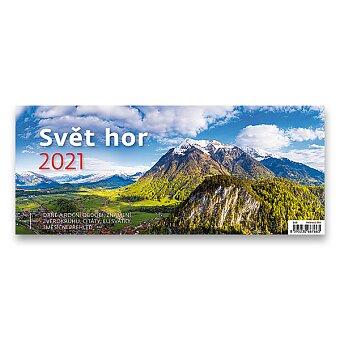 Obrázek produktu Stolní kalendář Svět hor 2021 - 32,1 x 13,4 cm, pracovní s obrázky
