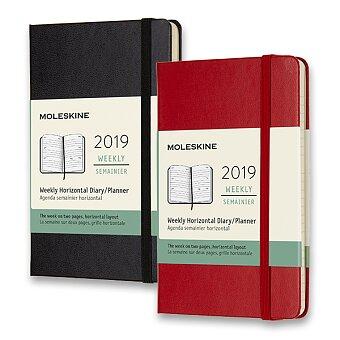 Obrázek produktu Diář Moleskine 2019 - tvrdé desky - S, týdenní, horizontální, výběr barev