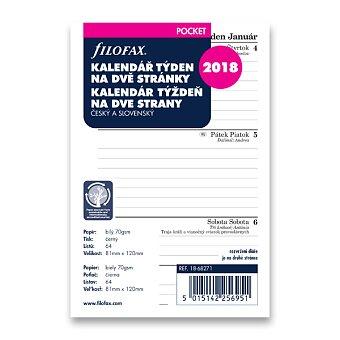Obrázek produktu Týdenní kalendář 2018, Čj - náplň kapesních diářů Filofax