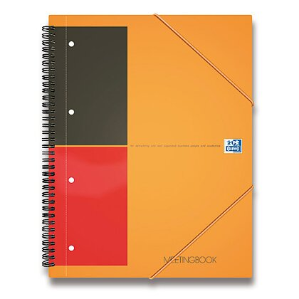 Obrázek produktu Oxford Meetingbook - kroužková záznamní kniha - A4+, 80 l., linkovaná