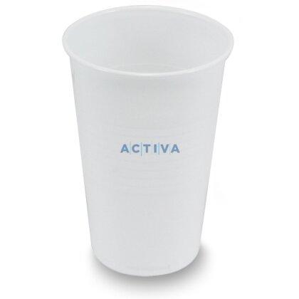 Obrázek produktu Plastové bílé kelímky - 0,2 l, 100 ks
