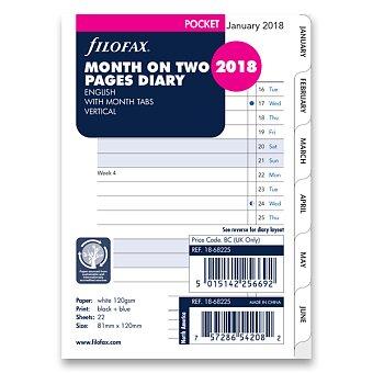 Obrázek produktu Měsíční kalendář 2018, Aj - náplň kapesních diářů Filofax
