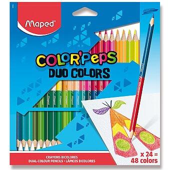 Obrázek produktu Pastelky Maped Color'Peps Duo - oboustranné pastelky, 48 barev