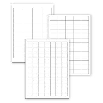 Obrázek produktu Bílé samolepící etikety SK Label - 100 archů A4, výběr rozměrů