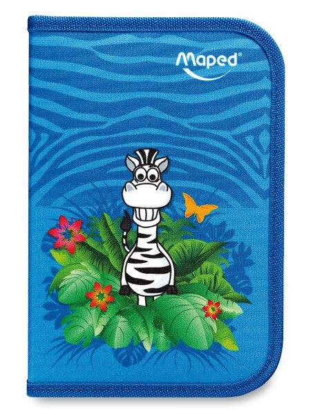 Penál Maped Tatoo 1patrový, vybavený, motiv Jungle
