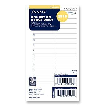 Obrázek produktu Denní kalendář 2018, Aj - náplň osobních diářů Filofax
