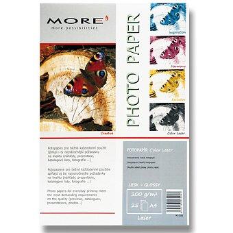 Obrázek produktu Lesklý fotopapír More Color Laser - A4, 25 listů, lesklý