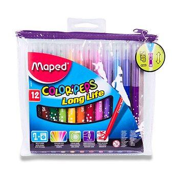 Obrázek produktu Dětské fixy Maped Color'Peps Long Life - 12 barev, pouzdro na zip
