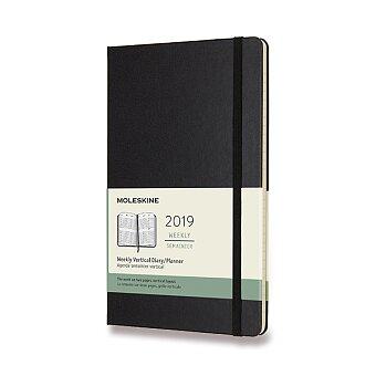 Obrázek produktu Diář Moleskine 2019 - tvrdé desky - L, týdenní, vertikální, černý