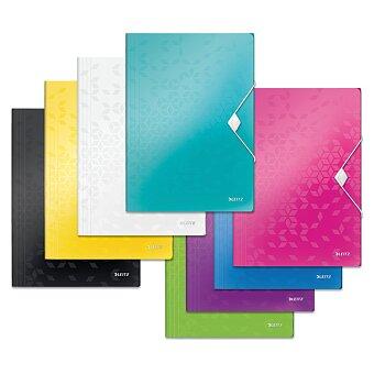 Obrázek produktu Desky s gumičkou a chlopněmi Leitz Wow - A4, výběr barev