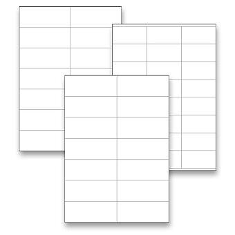 Obrázek produktu Bílé adresní etikety SK Label pro tvorbu adres zásilek - 100 archů A4, výběr rozměrů