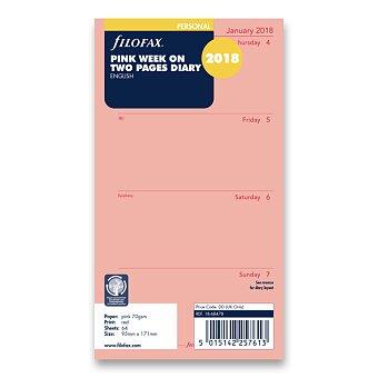 Obrázek produktu Týdenní kalendář 2018, Aj - náplň osobních diářů Filofax